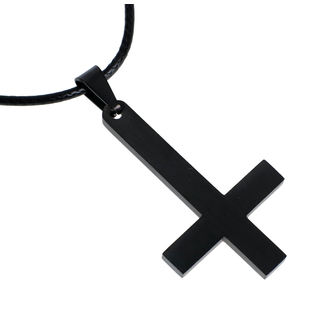 Necklace Luciferothica - Black Inverted Cross, LUCIFEROTHICA