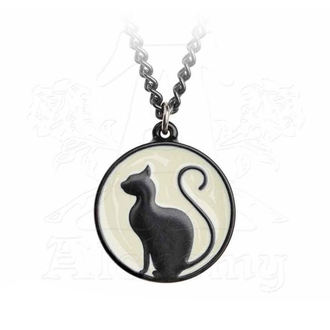 Pendant Necklace ALCHEMY GOTHIC - Meow At The Moon - P824