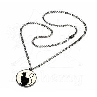 Pendant Necklace ALCHEMY GOTHIC - Meow At The Moon, ALCHEMY GOTHIC