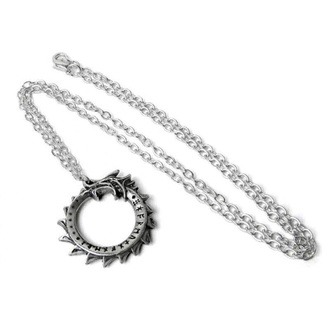 Pendant necklace ALCHEMY GOTHIC - Mini Jormangund - Pewter - P918