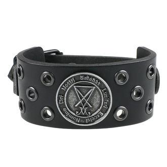 Bracelet Luciferi - ring black, JM LEATHER