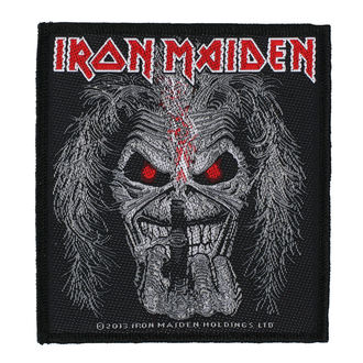 patch IRON MAIDEN - EDDIE CANDLE FINGER - RAZAMATAZ, RAZAMATAZ, Iron Maiden