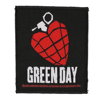 patch GREEN DAY - HEART GRENADE 1 - RAZAMATAZ - SP2918