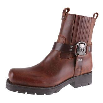 leather boots women's - ALASKA CUERO, MOTORCYCLE MARRON - NEW ROCK, NEW ROCK