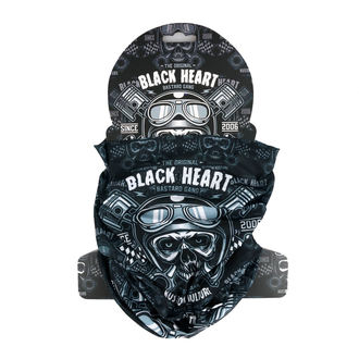 Neck warmer BLACK HEART - PISTON SKULL - BLACK, BLACK HEART