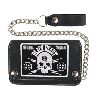wallet BLACK HEART - BASTARD SKULL - BLACK, BLACK HEART