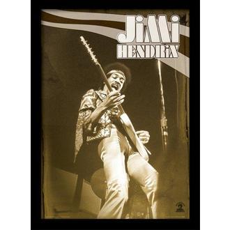 Poster (framed) Jimi Hendrix - Live - PYRAMID POSTERS, PYRAMID POSTERS, Jimi Hendrix