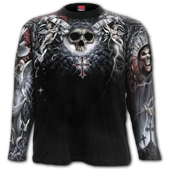 t-shirt men's - LIFE AND DEATH CROSS - SPIRAL - W032M304