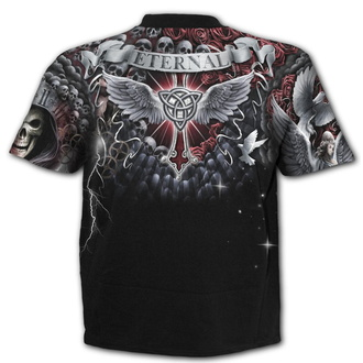 t-shirt men's - LIFE AND DEATH CROSS - SPIRAL - W032M105