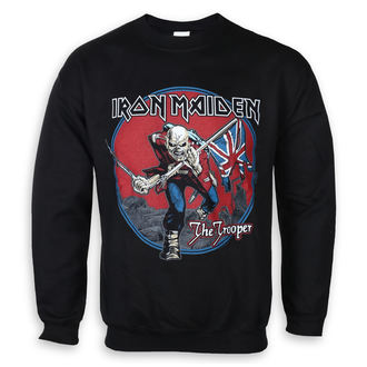sweatshirt (no hood) men's Iron Maiden - Trooper Red Sky - ROCK OFF, ROCK OFF, Iron Maiden