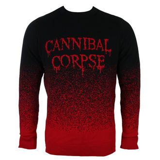 Sweater Men's CANNIBAL CORPSE - DRIPPING LOGO - PLASTIC HEAD, PLASTIC HEAD, Cannibal Corpse
