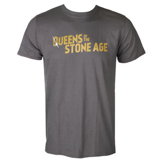 t-shirt metal men's Queens of the Stone Age - TEXT LOGO (METALLIC) - PLASTIC HEAD, PLASTIC HEAD, Queens of the Stone Age