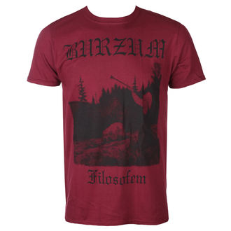 t-shirt metal men's Burzum - FILOSOFEM 3 (MAROON) - PLASTIC HEAD, PLASTIC HEAD, Burzum