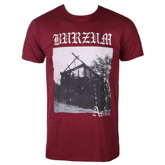 t-shirt metal men's Burzum - ASKE (MAROON) - PLASTIC HEAD, PLASTIC HEAD, Burzum