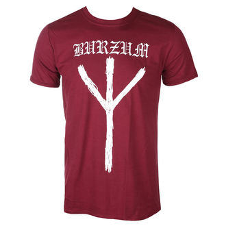 t-shirt metal men's Burzum - RUNE (MAROON) - PLASTIC HEAD, PLASTIC HEAD, Burzum