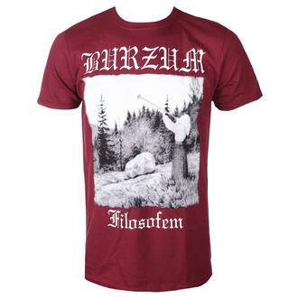 t-shirt metal men's Burzum - FILOSOFEM 2018 (MAROON) - PLASTIC HEAD, PLASTIC HEAD, Burzum