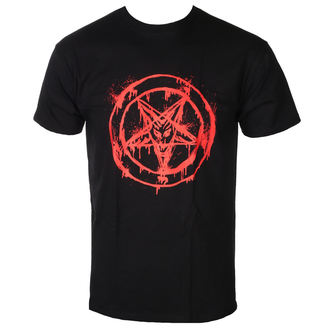 t-shirt men's - 2 bloody baphomet red -