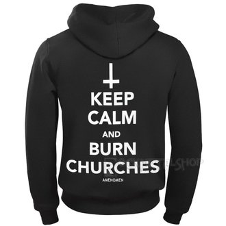 hoodie men's - KEEP CALM AND BURN CHURCHES - AMENOMEN, AMENOMEN