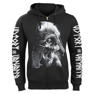 hoodie men's - VIKING SKULL - VICTORY OR VALHALLA, VICTORY OR VALHALLA