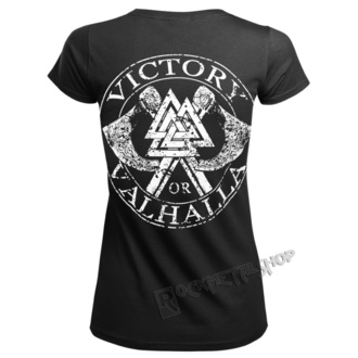 t-shirt women's - VIKING SKULL - VICTORY OR VALHALLA, VICTORY OR VALHALLA
