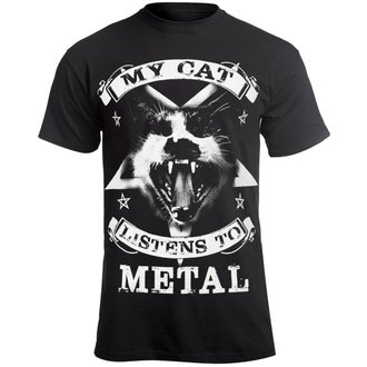 t-shirt hardcore men's - MY CAT LISTENS TO METAL - AMENOMEN, AMENOMEN