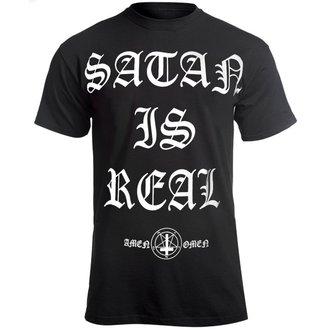 t-shirt hardcore men's - SATAN IS REAL - AMENOMEN, AMENOMEN