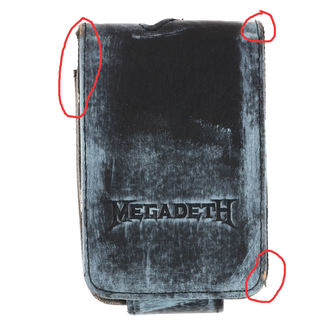 case to MP3 player Megadeth - BIOWORLD - DAMAGED, BIOWORLD, Megadeth