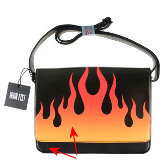 handbag IRON FIST - Fire Sign - Black - DAMAGED, IRON FIST