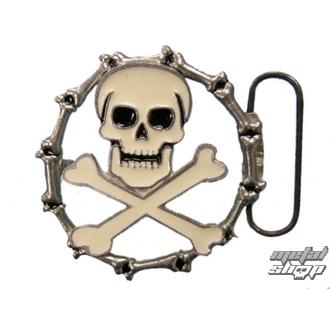 buckle for leather belt Skull 35