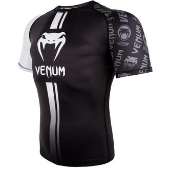 Men's thermo t-shirt (rashguard) Venum - Logos Rashguard - Black / White, VENUM