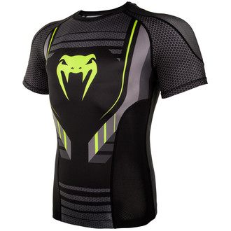Men's thermo t-shirt Venum - Technical 2.0 Rashguard - Black / Yellow, VENUM