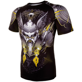 Men's thermo t-shirt Venum - Viking 2.0 Rashguard - Black / Yellow, VENUM