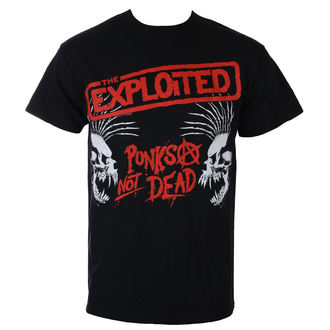 t-shirt metal men's Exploited - PUNKS NOT DEAD I SKULLS - RAZAMATAZ, RAZAMATAZ, Exploited