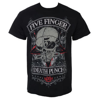 Men's T-shirt Five Finger Death Punch - Wicked - Black - ROCK OFF, ROCK OFF, Five Finger Death Punch