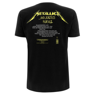 t-shirt metal men's Metallica - And Justice For All Tracks -, Metallica