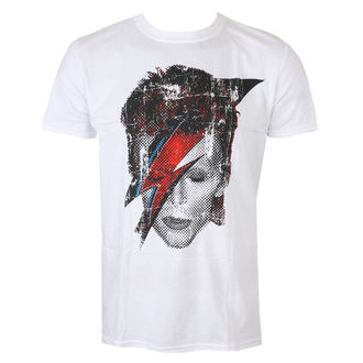 Men's T-shirt David Bowie - Halftone Flash Face - White - ROCK OFF - BOWTS17MW