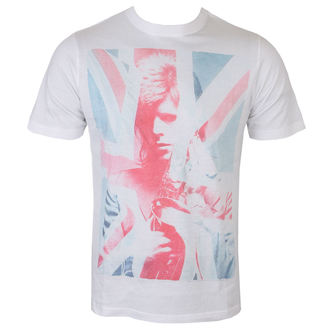 Men's T-shirt David Bowie - Union Jack and Sax Sublimation - White - ROCK OFF, ROCK OFF, David Bowie