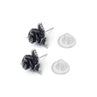 Earrings ALCHEMY GOTHIC - Ring O' Roses - Pewter - E447