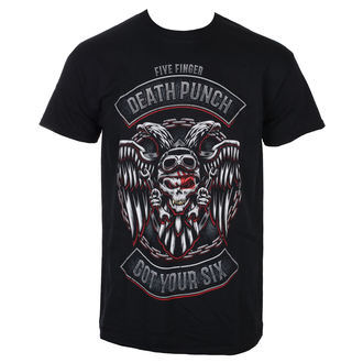 Men's T-shirt Five Finger Death Punch - Biker Badge - Black - ROCK OFF, ROCK OFF, Five Finger Death Punch