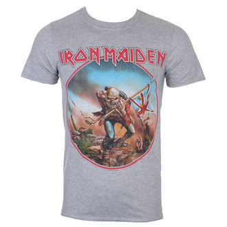 T-shirt Men's Iron Maiden - Trooper - Grey - ROCK OFF, ROCK OFF, Iron Maiden