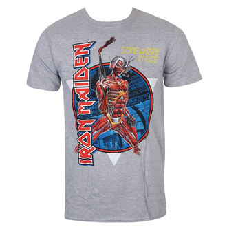 T-shirt Men's Iron Maiden - Somewhere In Time - Grey - ROCK OFF, ROCK OFF, Iron Maiden