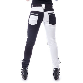 Women's trousers VIXXSIN - ROCKSTAR - BLACK / WHITE, VIXXSIN