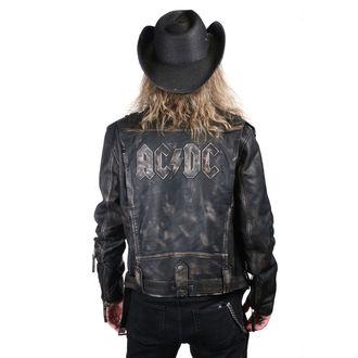leather jacket AC-DC - LROV Black/Beige - NNM, NNM, AC-DC
