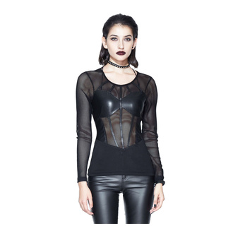 Women's t-shirt with long sleeves DEVIL FASHION - TT100