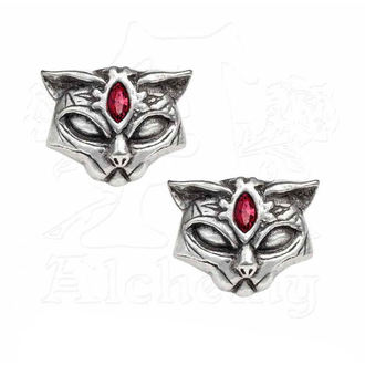 Earrings ALCHEMY GOTHIC - Sacred Cat, ALCHEMY GOTHIC
