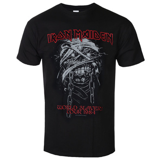 Metal T-Shirt men's Iron Maiden - World Slavery 1984 Tour - ROCK OFF - IMTEE90MB