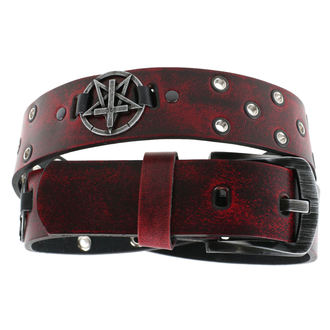 Belt Pentagram Cross - red - LSF2 21