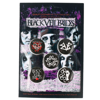 Pin Badges Black Veil Brides - RAZAMATAZ, RAZAMATAZ, Black Veil Brides