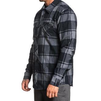 Shirt Men's SULLEN - OIL STAIN - BLACK / GREY, SULLEN