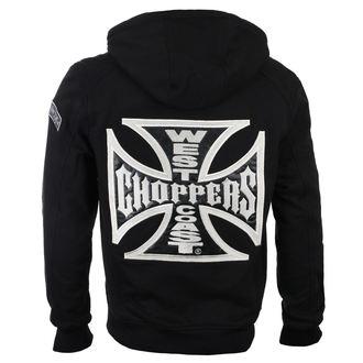 hoodie men's - CROSS PANEL - West Coast Choppers, West Coast Choppers
